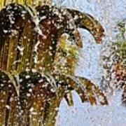 Water Fountain Yellow Charleston Sc Poster by Lori Kesten