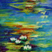 Water Lilies No 3. Poster