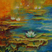 Water Lilies No 4. Poster