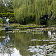 Water Lily Garden Of Monet In Giverny Poster