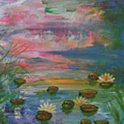 Water Lily Pond 2 Poster