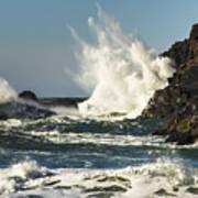 Water Meets Rock Poster