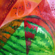 Water Melon Patterns Poster