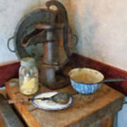 Water Pump In Kitchen Poster