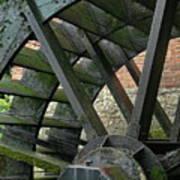 Water Wheel At Graue Mill, Oakbrook, Illinois Poster