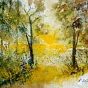 Watercolor 210108 Poster by Pol Ledent