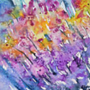 Watercolor - Abstract Flower Garden Poster
