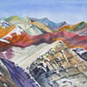 Watercolor - Colorado Elk Range View Poster