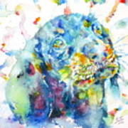 Watercolor Dachshund Poster