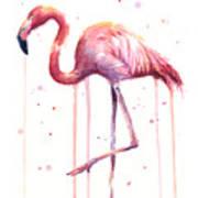 Watercolor Flamingo Poster
