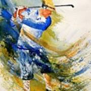 Watercolor  Golf Player Poster