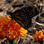 Watercolor Monarch Poster