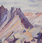 Watercolor - Near The Top Of Mount Sneffels Poster