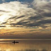 Watercolor Paddle - Kayaking Through A Glorious Silken Morning Poster