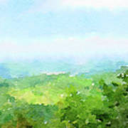 Watercolor Painting Of The English Countryside Poster