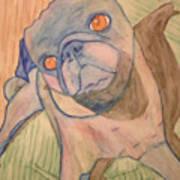 Watercolor Pug Poster