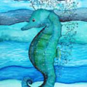 Watercolor Saehorse Poster