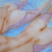Watercolour Painting Gay Interest Men In Swimming Pool #16-12-21 Poster