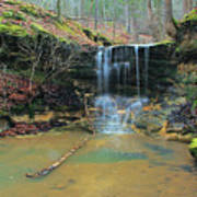 Waterfall At Don Robinson State Park 1 Poster