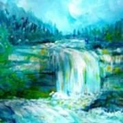Waterfall At Pont Espagna Poster