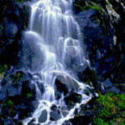 Waterfall Flowing And Ebbing Poster