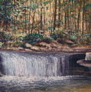 Waterfall Glory Poster