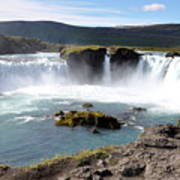 Waterfall - Godafoss Poster