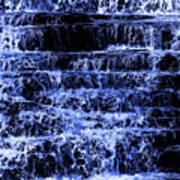 Waterfall In Blue Poster
