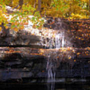 Waterfall In Creve Coeur Poster