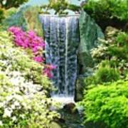 Waterfall In Spring Poster