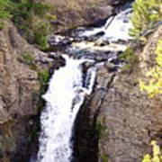 Waterfall In Yellowstone Poster