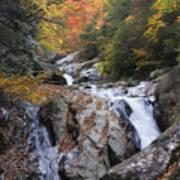 Waterfall Off Blue Ridge Parkway Poster