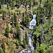 Waterfall On Lava Creek 1 Poster