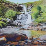 Waterfall On Skye 2 Poster