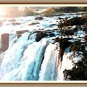 Waterfall Scene For Mia Parker - Sutcliffe L A S With Decorative Ornate Printed Frame.  Poster