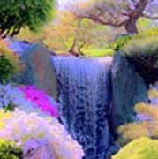 Waterfall Spring Colors Poster