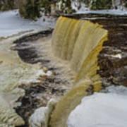 Waterfalls Upper Tahquamenon -6049 Pure Michigan Poster