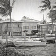 Waterfront Cottages At Parmer's Resort In Keys Poster