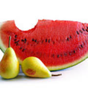 Watermelon And Pears Poster