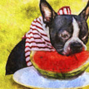 Watermelon Lunch Poster