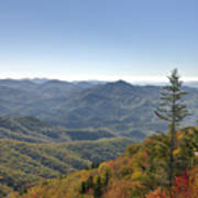 Waterrock Knob On Blue Ridge Parkway Poster