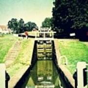 10945 Watford Locks On The Grand Union Canal Poster