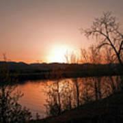 Watson Lake At Sunset Poster by James Steele