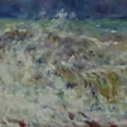 Wave At Sea Poster