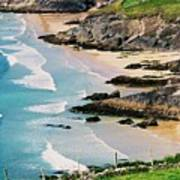 Waves Coming Ashore At Sybil Point Ireland  # 1 Poster