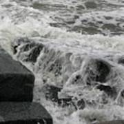 Waves Splashing Stones 2 Poster