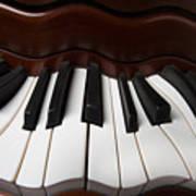 Wavey Piano Keys Poster