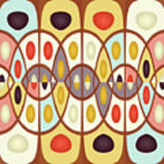 Wavy Geometric Abstract Poster