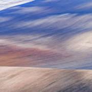 Wavy Hills Abstract. Moravian Tuscany Poster