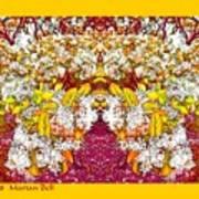 Waxleaf Privet Blooms In Autumn Tones Abstract Poster